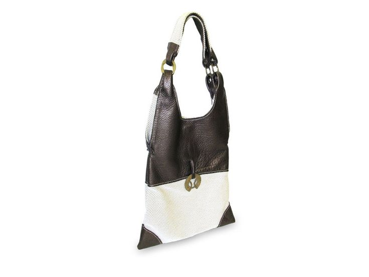 Elegant and ultralight women's bag from bronze cowhide leather and cotton. Gidran Step the soft and elegant part of you by LovenBags on Etsy