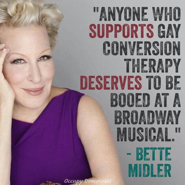 Anyone who supports gay conversion therapy deserves to be booed at a Broadway musical.