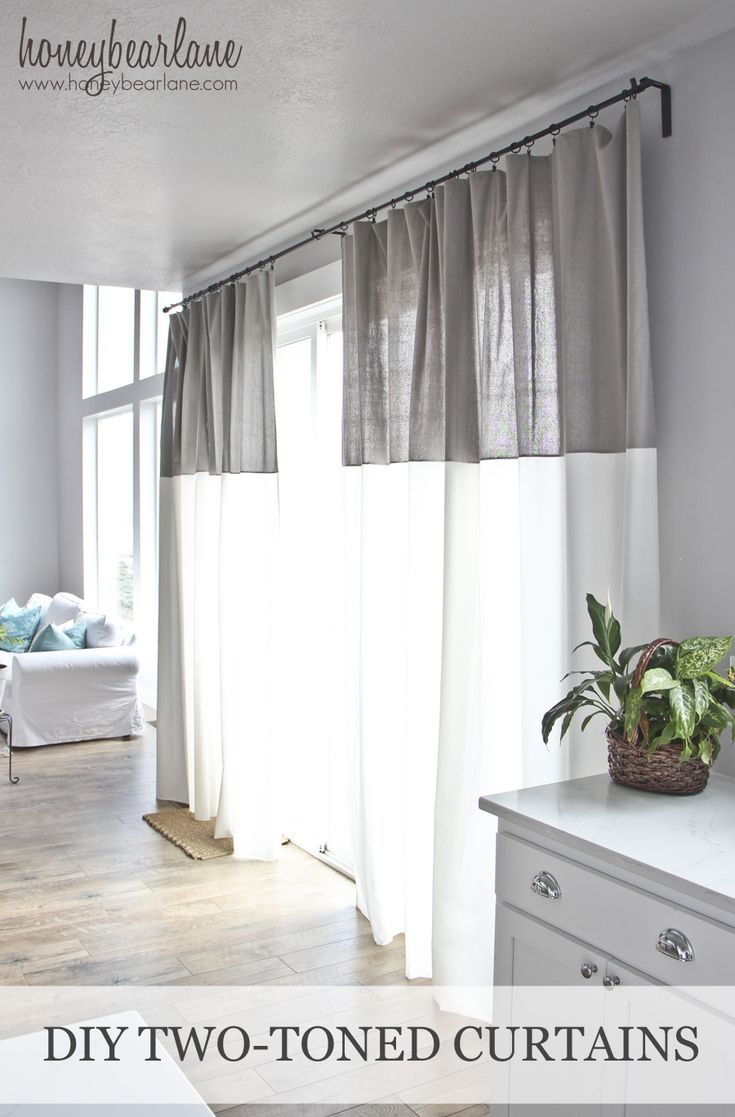 DIY Two Toned Curtains | Living rooms, Filter and Room decor