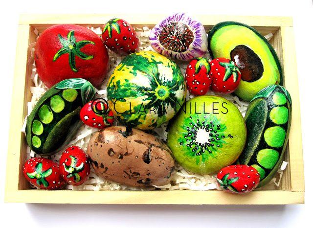 Painted Rocks - Box of Produce By Clara Nilles