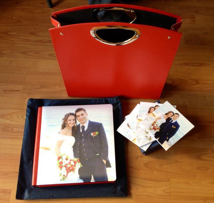 Kit album 30x30 + 4 pocket 12X12 red