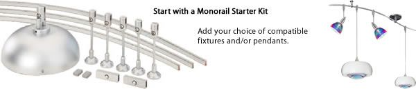 Customize any starter kits with your choice of pendants and heads. Monorail Track Lighting – Beyond the Basics