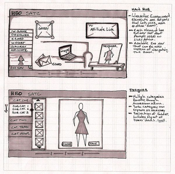 Web and Mobile Wireframe Sketches (8)