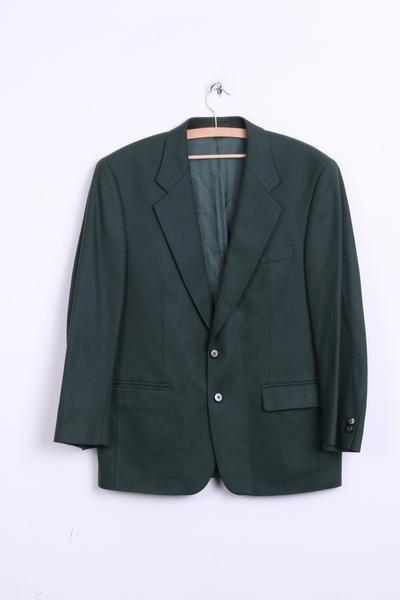 Douglas Mens 50 S Blazer Jacket Dark Green Wool Nylon Vintage - RetrospectClothes