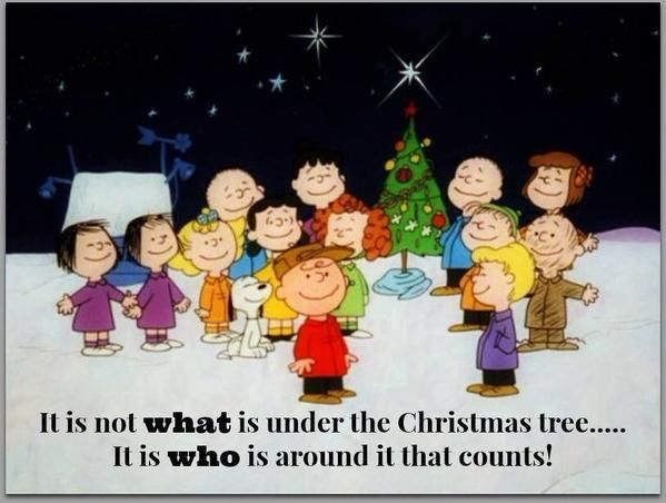 It is not what is under the Christams tree....It is who is around it that counts! #Cartoon #Peanuts #Charles_Schulz #whatcountsatchristmas