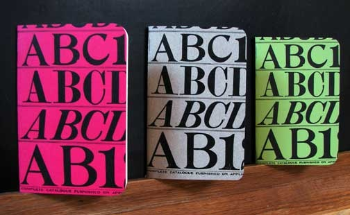 Letterpress Typography Notebooks-Italics: Teaching Studios, Paper Studios, Typography Notebooksit, Letterpresses Notebooks, Notebooks Attraction, Letterpresses Typography, Typography Notebooks Italic