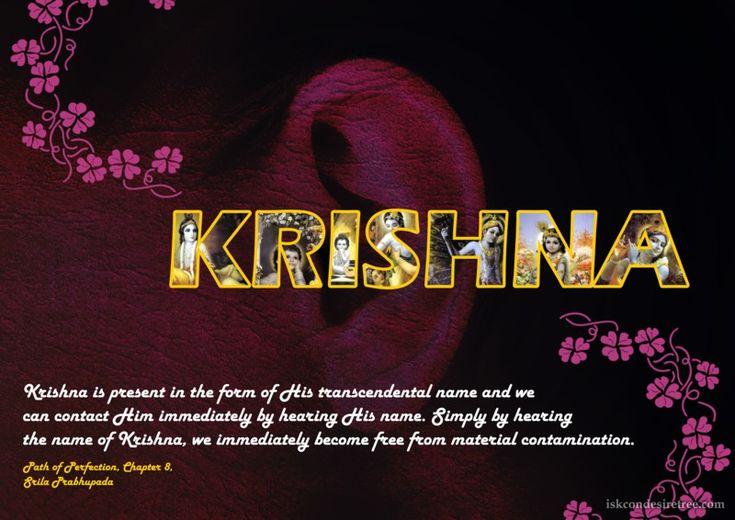 Name of Krishna  For full quote go to: http://quotes.iskcondesiretree.com/srila-prabhupada-on-name-of-krishna/  Subscribe to Hare Krishna Quotes: http://harekrishnaquotes.com/subscribe/  #Krishna