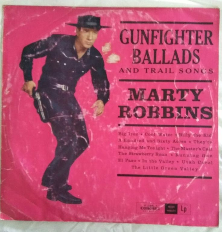 Marty Robbins Gunfighter Ballads and Trail Songs Vinyl LP KLP 817 in Music, Records | eBay!