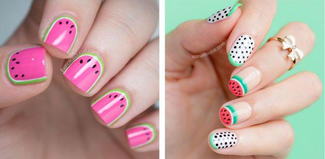 Vesti le mani con una nail art a tema anguria. Qui trovi il tutorial per realizzare il set 5 unghie di TheNailAsaurus.com. Pe realizzare invece il mix pois e anguria di SoNailicious, vai qui.  -cosmopolitan.it