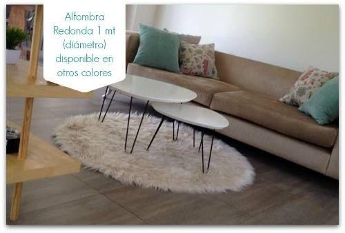 alfombra/carpeta redonda 1 mt - piel sintética