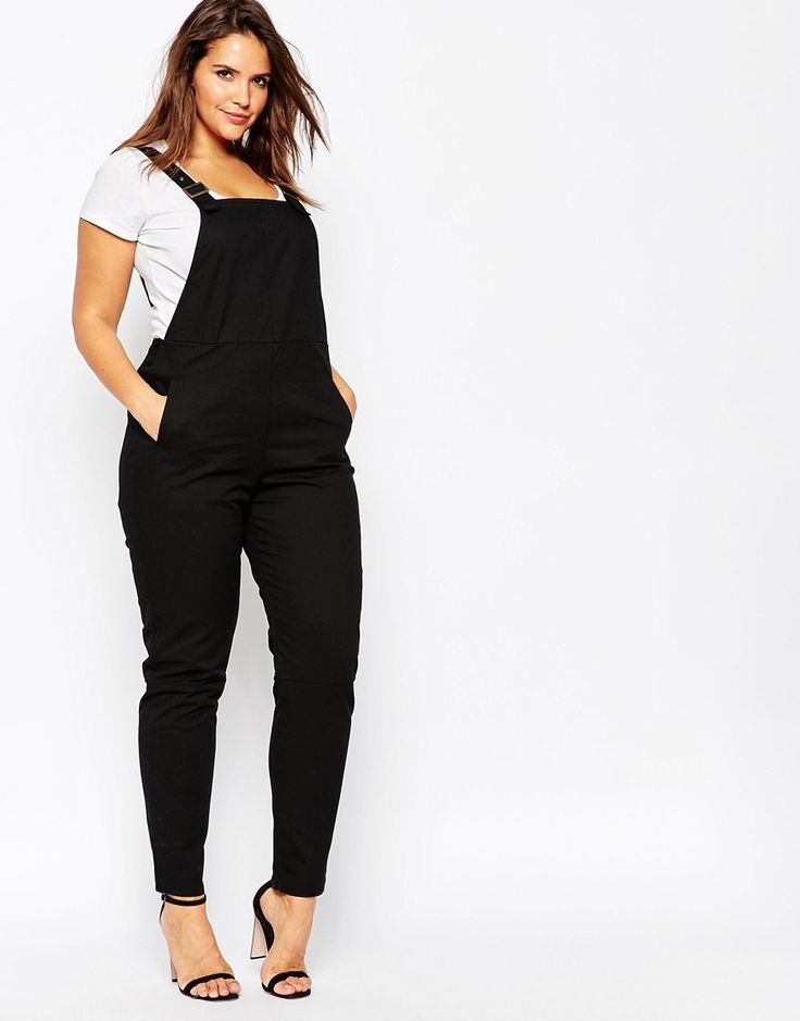 Image 4 of ASOS CURVE Overalls In Twill