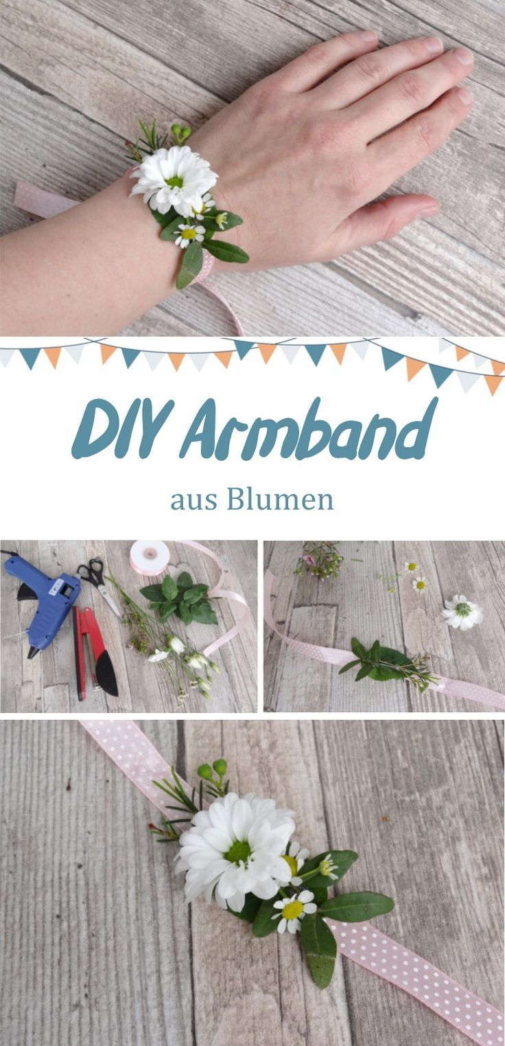 DIY Instructions for a Flower Bracelet for the JGA / Bridal Shower or Brides