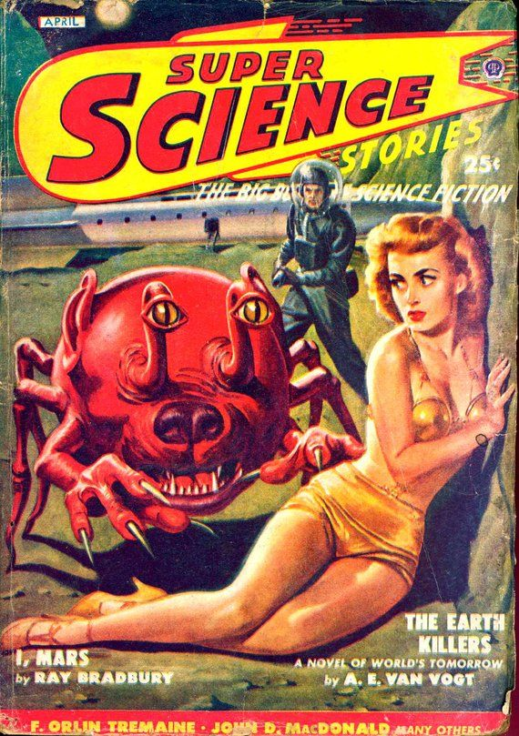 48 Vntage Pulp Magazine Super Science Stories Future Science