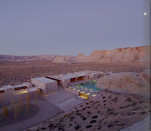 Aerial view of  Amangiri Resort and Spa in Utah!