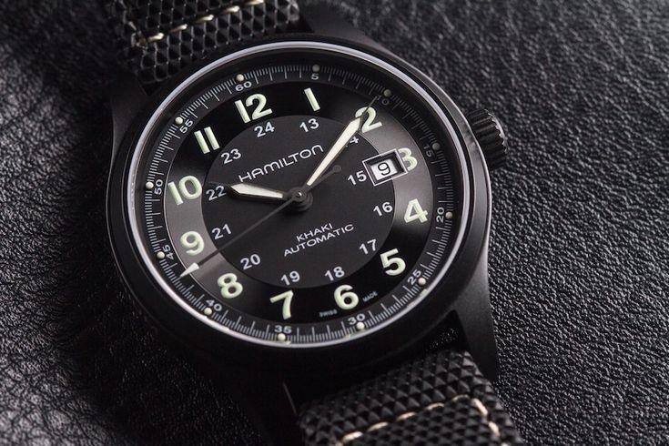 Hamilton Khaki Field Titanium Auto Review   wrist time watch reviews