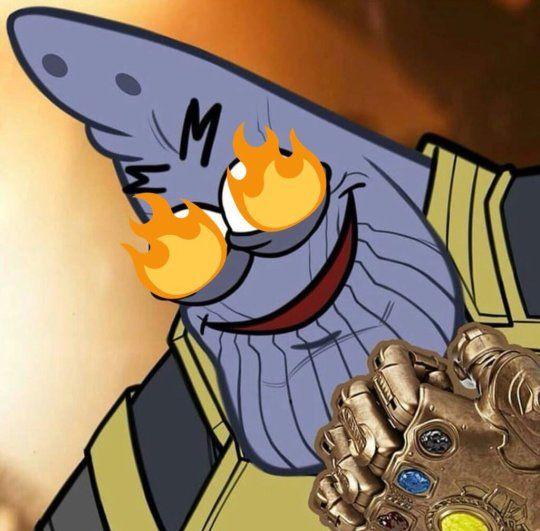 Avengers: Infinity War THANOS as Spongebob Patrick Meme ...