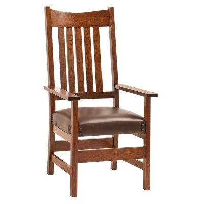 Arm Chair Conner Furniture Made In Usa Builder40 Available At Amish Oak And  Cherry