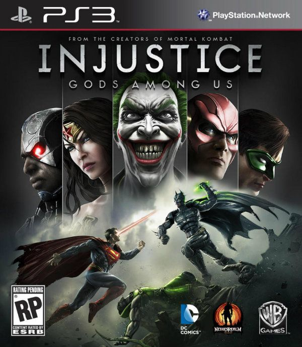 Injustice Box Art - Confirms Joker and Green Lantern | Test Your Might
