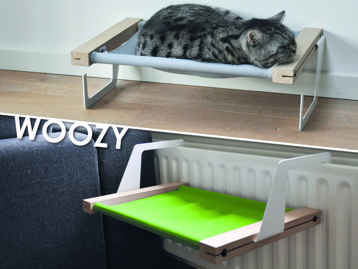 WOOZY The hammock/bed for Cats, which you can hang on the radiator or place on the ground everywhere you would like.