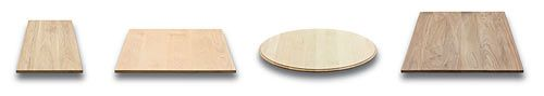 solid wood table tops from tablelegs.com