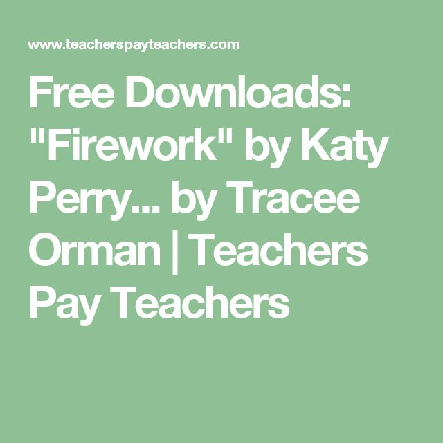 "Free Downloads: ""Firework"" by Katy Perry... by Tracee Orman 