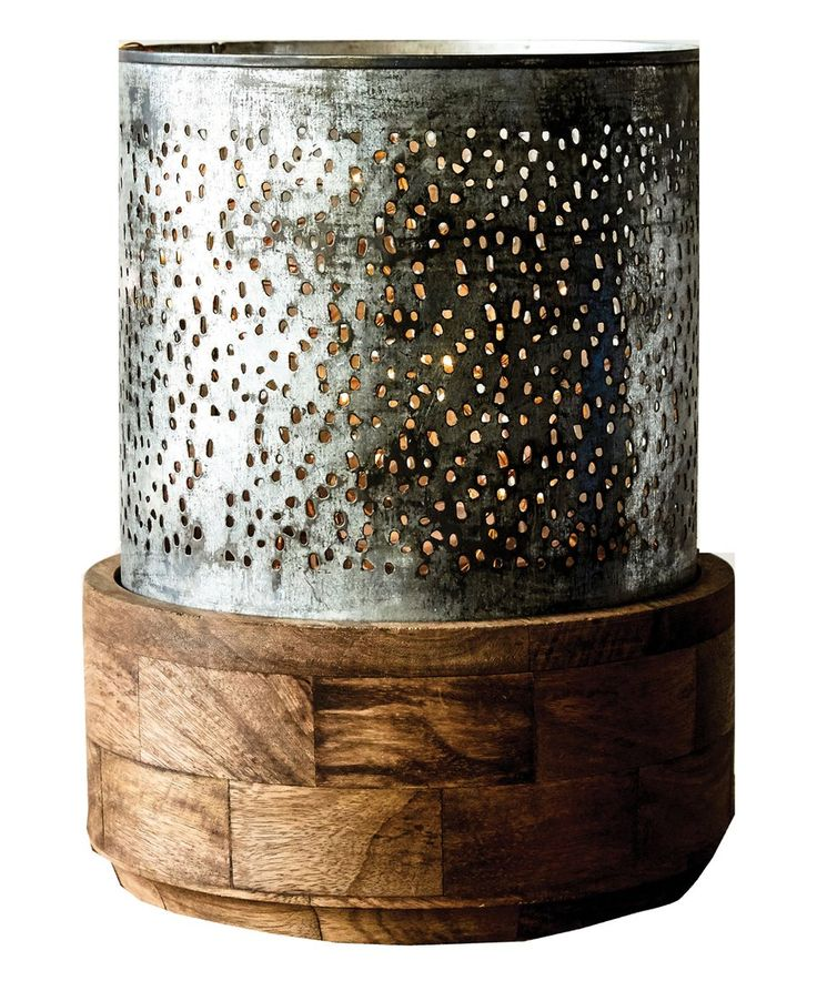 Take a look at this Metal with Wood Base Hurricane today!