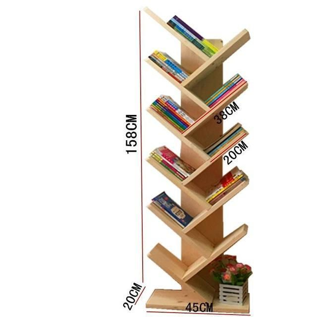 Buy Wooden Shaped Shelves Creative Children'S Small Simple Modern Tree Bookshelf $448.85- ICON2