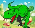 Dibujo  Tiranosaurio Rex enfadado  pintado por  adrian149