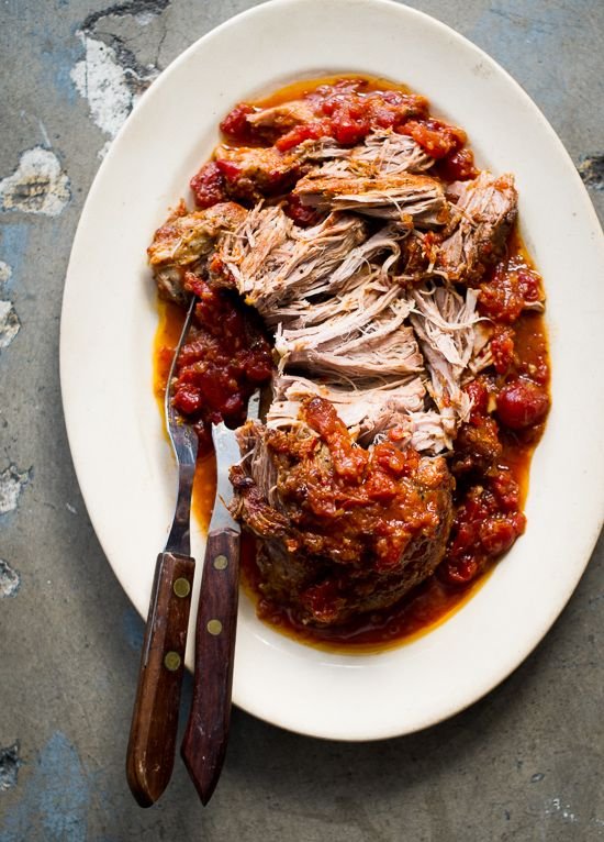 Juicy Asian Oven Roasted Pulled Pork Recipe for Sliders, Tacos, Rice and Pasta! from @whiteonrice