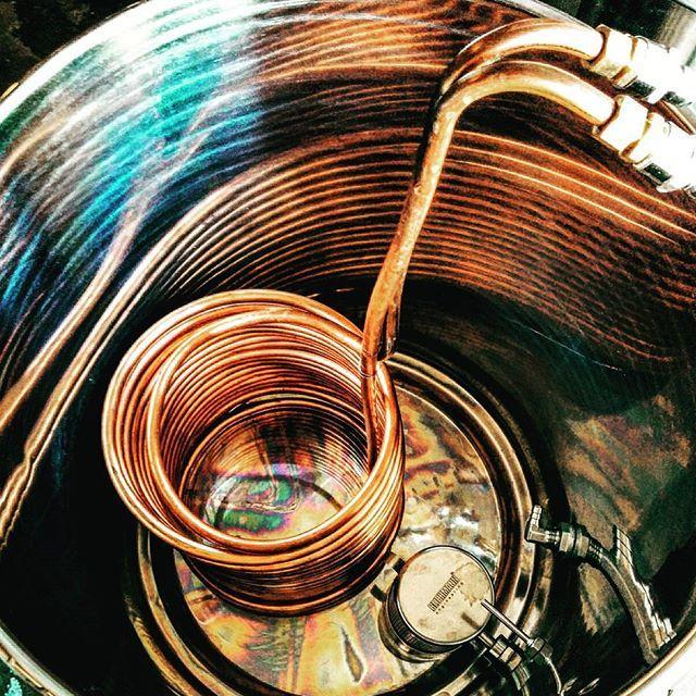 Homebrewing kettle and wort chiller #homebrew #homebrewing #beer