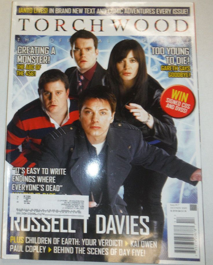 Torchwood Magazine Tod Young Russell T Davies October/November 2009 040215R | eBay