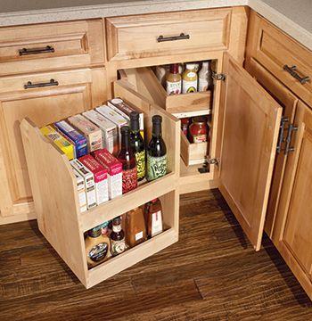 Base Blind Corner With Swing Out Masterpiece Accessories Merillat Corner Kitchen Cabinetskitchen