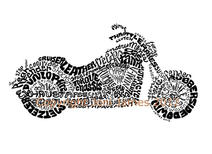 Pen And Ink Calligraphy Motorcycle Drawing Harley Davidson