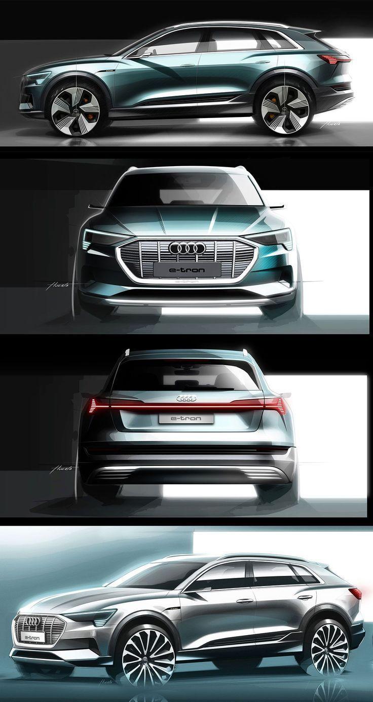 Audi Enthullt Den E Tron Suv Sein Erstes Vollelektrisches Modell Audi Den Your Family S Car S En 2020 Croquis De Design De Voiture Modele De Voiture Bmw Suv