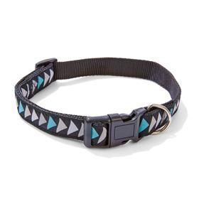 Geometric Nylon Dog Collar - Medium