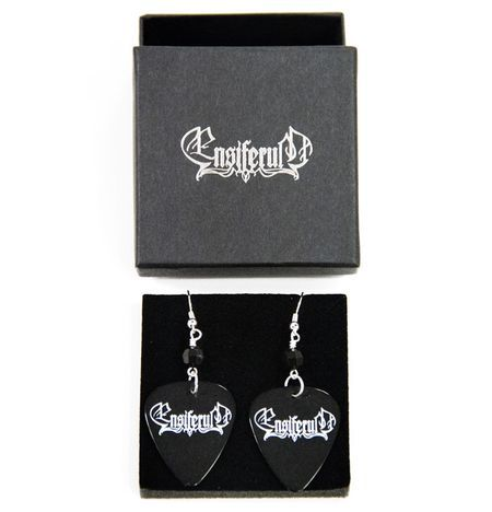 Black Logo, Earrings - Ensiferum. Designed and made by Jaana Bragge.