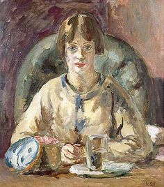 ANGELICA PAINTING by Duncan Grant  Angelica Bell by Vanessa Bell, 1930