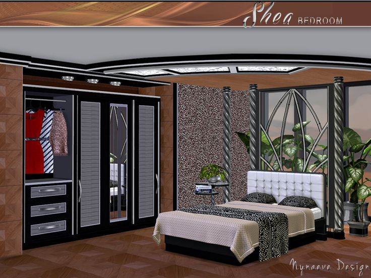 Nynaevedesign 39 s shea bedroom sims 4 custom content ts4 for Bedroom designs sims 4