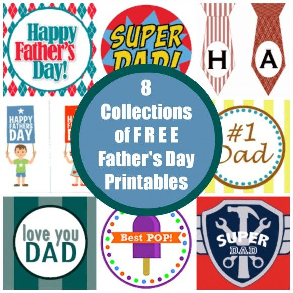 Need free Father's Day printables? We've got 8 cute collection! #fathersday #freeprintables