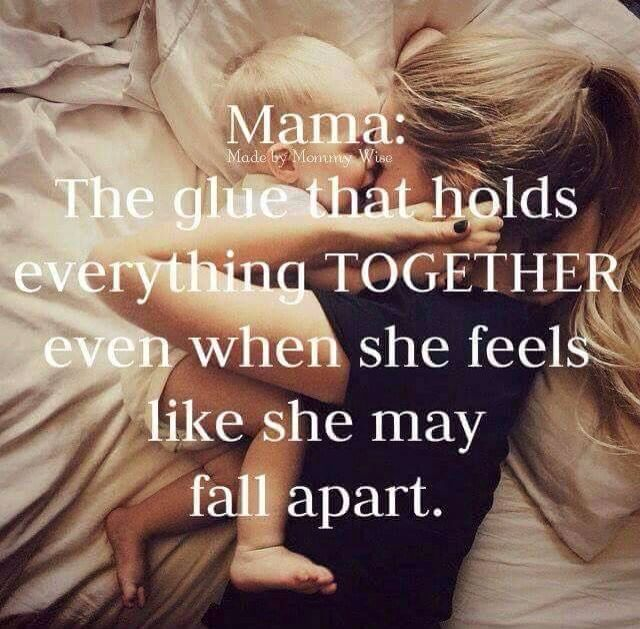 Never felt this to be more true than yesterday! Felt like I was falling apart with my sons surgery but kept it together for him and my other kids! Thank God- God was by our side! So blessed!