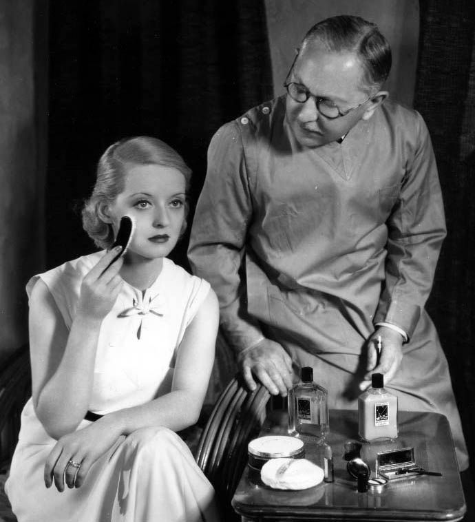 Max Factor et Bette Davis