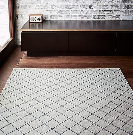 Granite and Charcoal Twine Weave Floor Rug by Armadillo