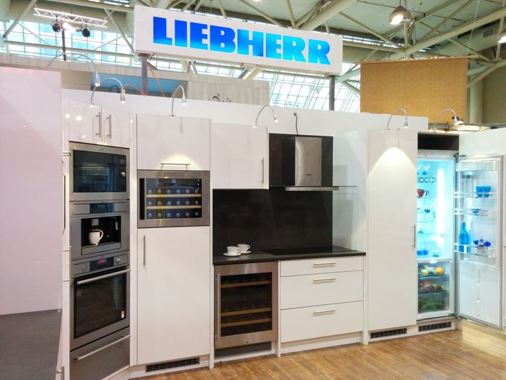 The #Liebherr #white #kitchen on display at the #IDS15 show this past January.