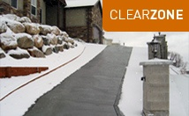 Snow melting options for heated driveways and sidewalks.