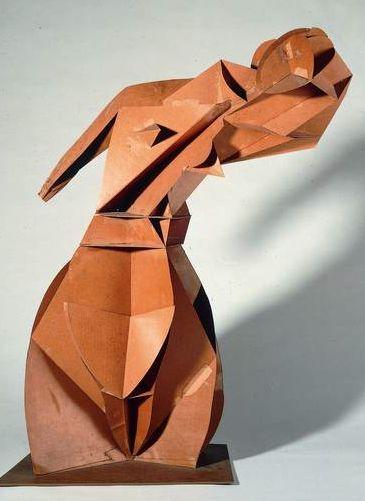 "By Naum Gabo (1890-1977), 1917-18, Model for ""Constructive Torso"", Cardboard. The Work of Naum Gabo © Nina  Graham Williams"
