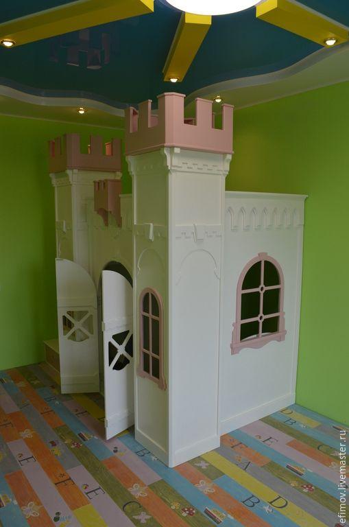 Купить Замок-кровать - белый, замок, мебель для детей, детская мебель на заказ, замок для детей