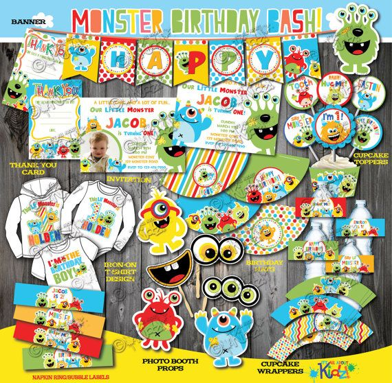 This Birthday package including everything you need to make a boys Monster Birthday Bash perfect. Get the party started the right way with a