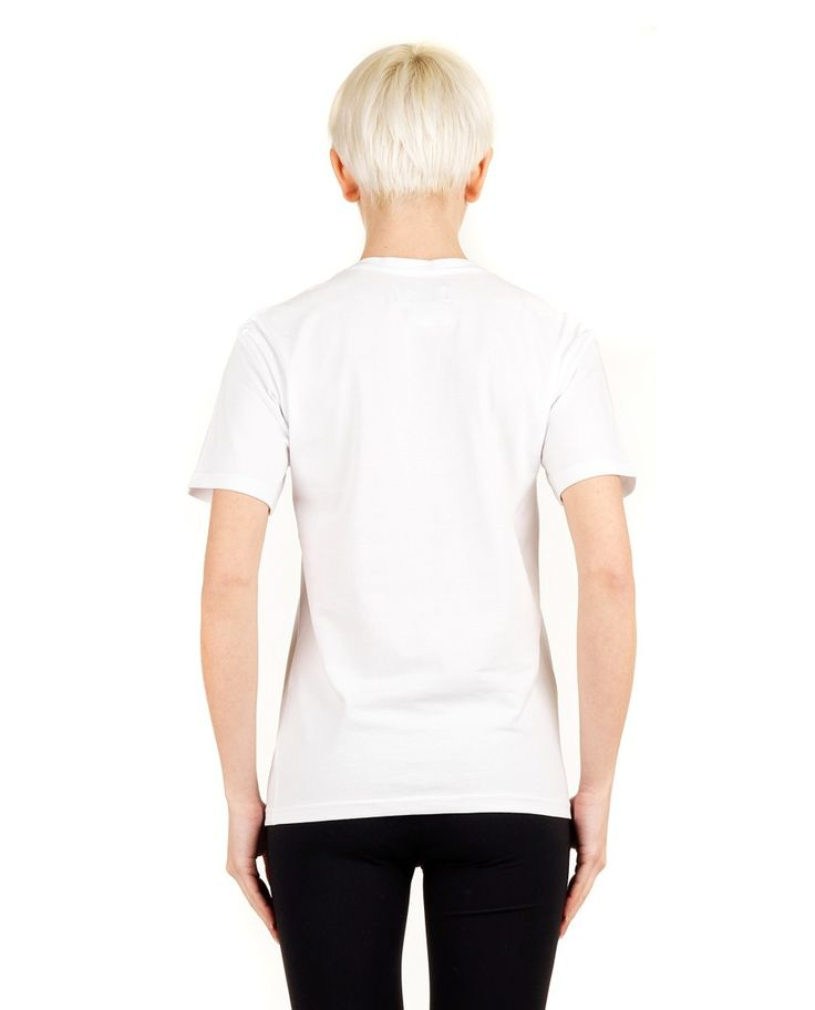 "ANNA K T-SHIRT ""SOLD OUT"" White cotton T-shirt  crew-neck short sleeves front print 80% CO 20% EA"