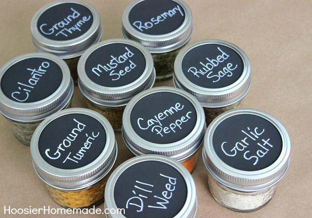 How to make Chalkboard Labels | Instructions on HoosierHomemade.com