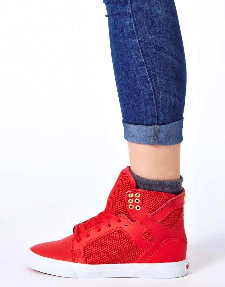 Supra Red High Top Sneakers